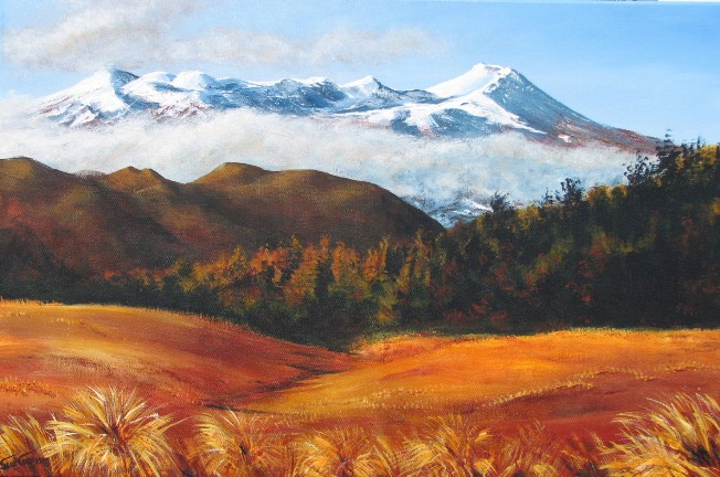 Ruapehu Dawn by Sue Graham