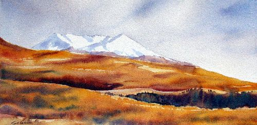 Mt Ruapehu Tussock Country by Sue Graham