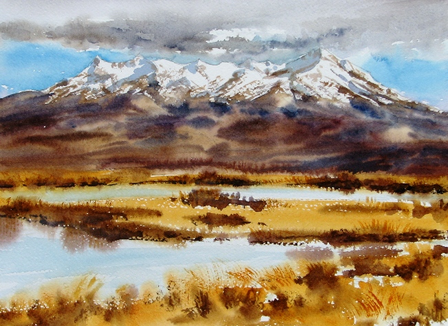 Mt Ruapehu Clouds by Sue Graham