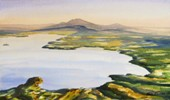 Lake Taupo from the Air by Sue Graham